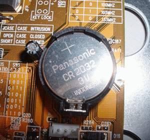 разрядка батарейки CMOS