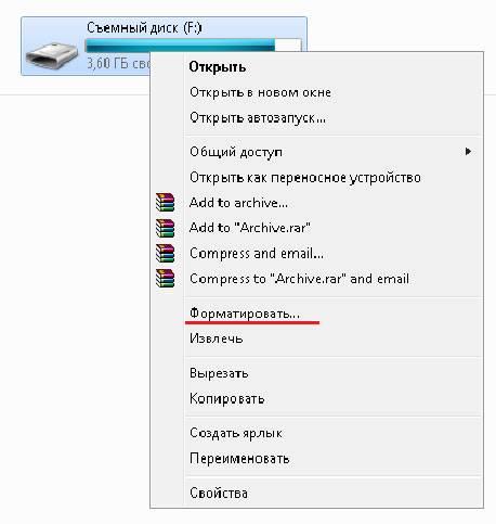 Как правильно установить пароль на флешку
