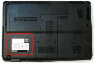 Наклейка на тыльной стороне ноутбука HP