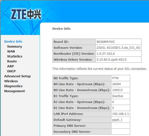Как настроить роутер ZTE F660