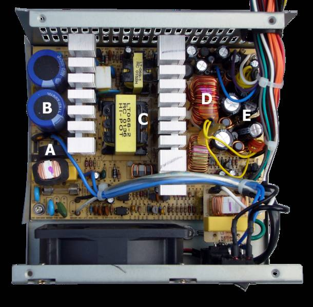 Виды электрических схем блока питания компьютера