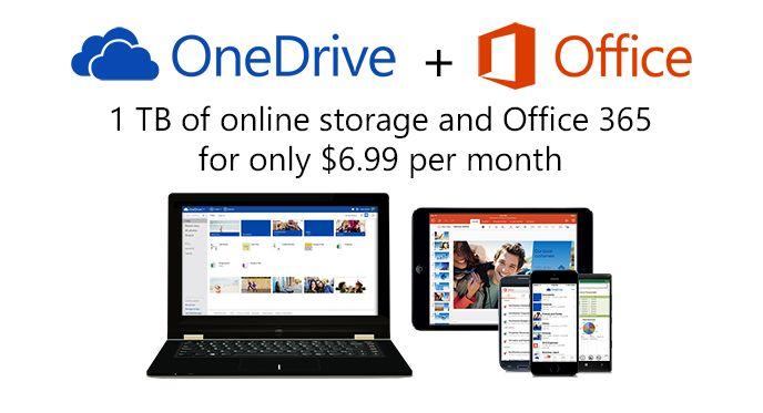 Под натиском конкуренции Microsoft снизила цены на OneDrive и вдвое увеличила бесплатное пространство