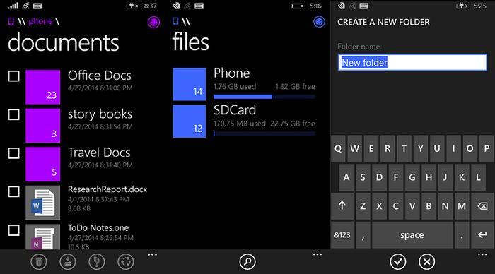 Windows Phone 8.1 получит файловый менеджер в этом месяце