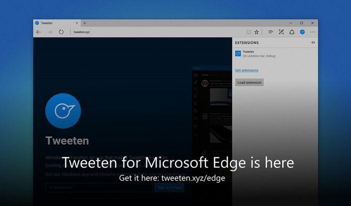 Tweeten выпустили расширение для Microsoft Edge