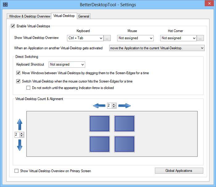 BetterDesktopTools: функции Expose и Spaces из Mac OS X в Windows