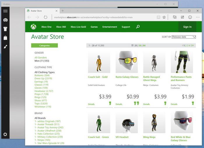 Аватары Xbox теперь доступны в качестве приложения для Windows 10
