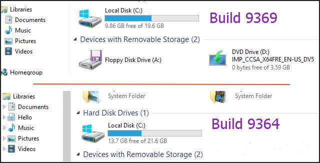 Windows 8.1 build 9369 – файловый менеджер с интегрированным доступом к SkyDrive и другие изменения