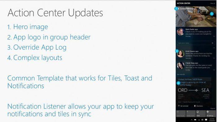 Грядущие изменения в центре уведомлений Windows 10