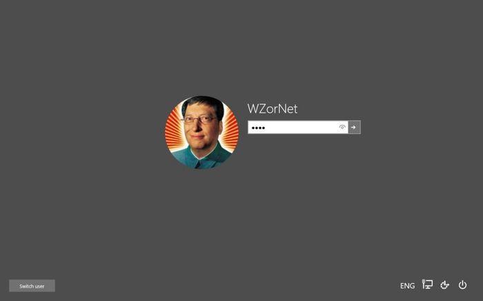 Новый экран входа в Windows 10 build 10031