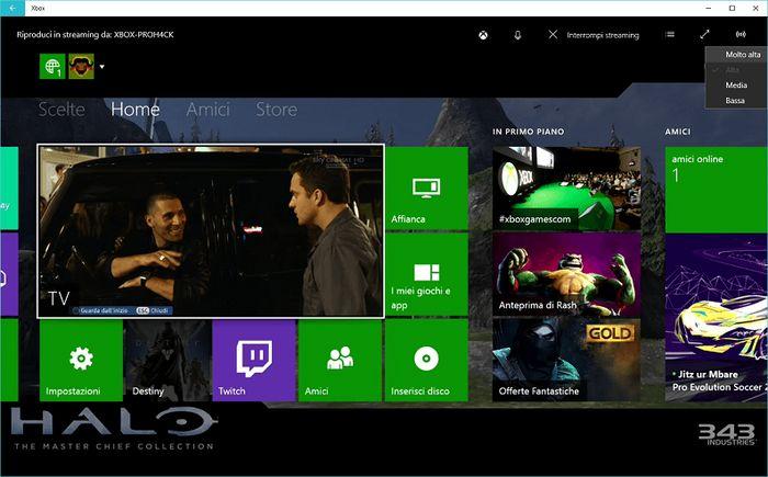Как увеличить качество потока с Xbox One на Windows 10