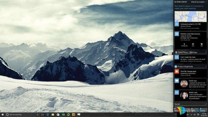 В Windows 10 Redstone центр уведомлений получит поддержку интерактивных карточек