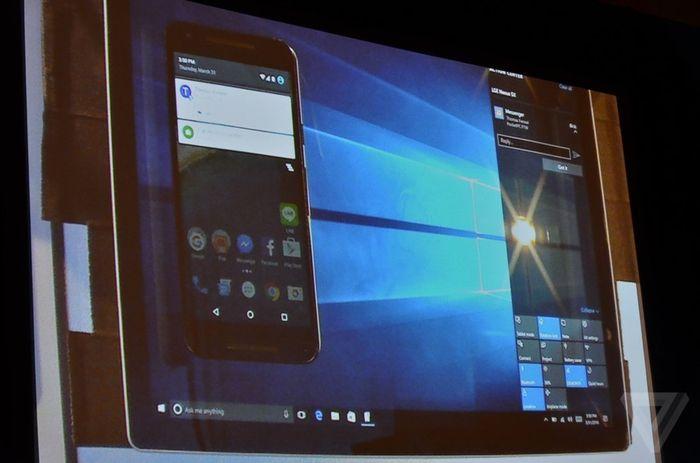 Уведомления с Android в центре уведомлений Windows 10