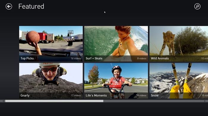 Приложение GoPro Channel для Windows 8.1