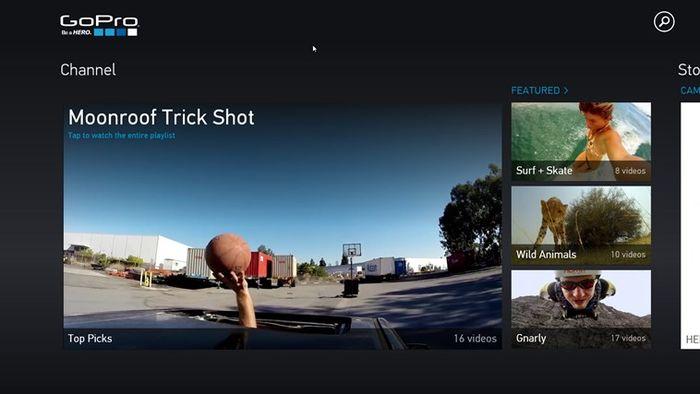 Приложение GoPro Channel для Windows 8.1