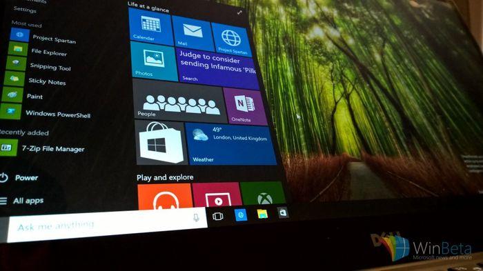 «Утечка» Windows 10 Build 10074