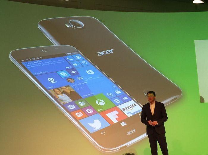 Первые смартфоны с Windows 10 Mobile от Acer