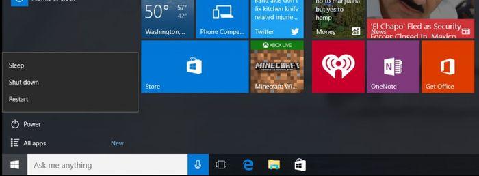 Утечка Windows 10 build 10568