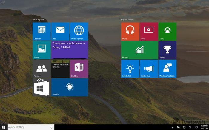 Скриншоты и видео Windows 10 Build 10114