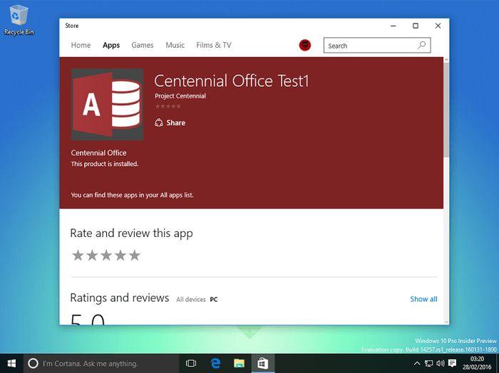 В Магазине Windows вскоре может появиться десктопная версия Office