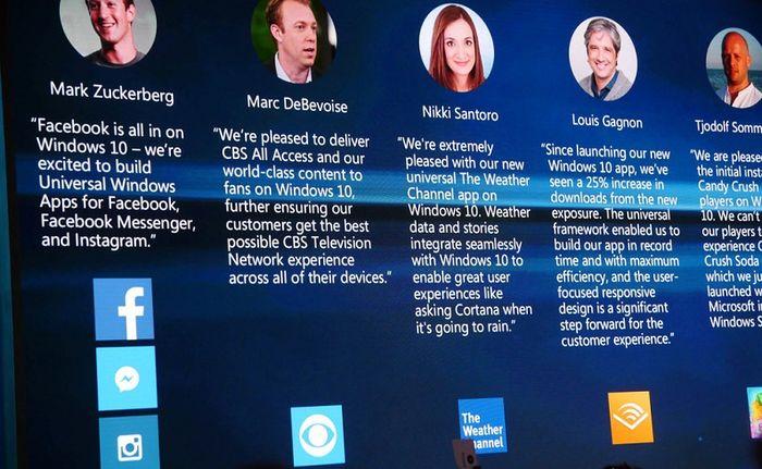Для Windows 10 будут выпущены универсальные приложения Facebook, Messenger и Instagram