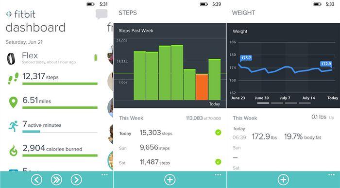 Fitbit – первый фитнес-браслет с официальным приложением для Windows Phone