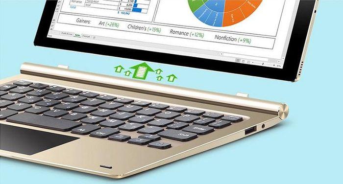 Teclast Tbook 10 – еще один планшет-ноутбук с Windows 10 и Android