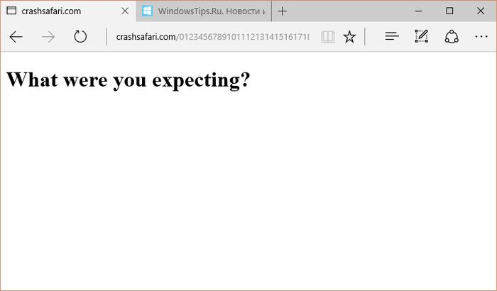 Microsoft Edge и IE – единственные браузеры, которым удается выжить на Crashsafari
