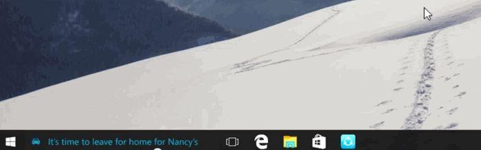 Windows 10: Кортана будет показывать уведомления и напоминания на панели задач