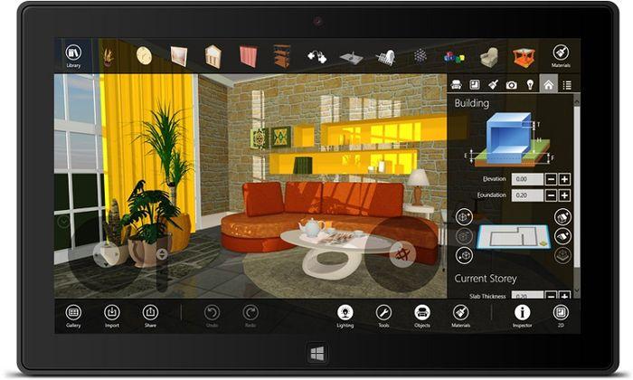 Live Interior 3D для Windows 8. Детальное планирование интерьера