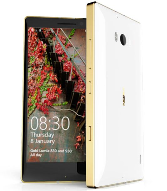Microsoft анонсировала Lumia 930 и 830 Gold Edition