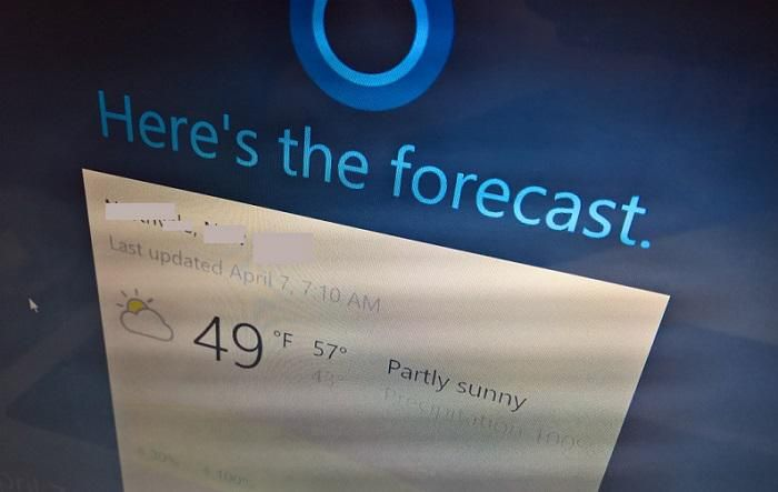 Cortana на экране блокировки Windows 10