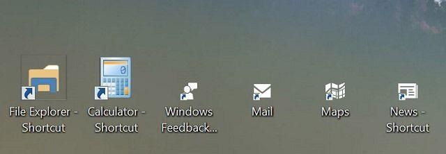 Windows 10: ярлыки универсальных приложений на рабочем столе