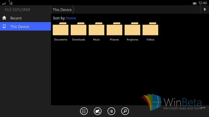 Первые скриншоты Windows 10 для небольших планшетов