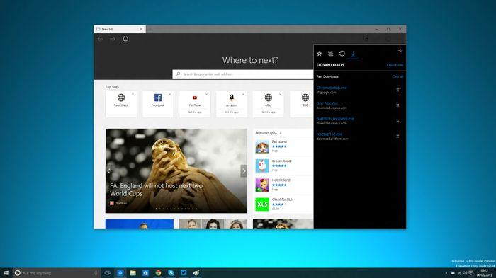 В Windows 10 Insider Preview Build 10134 можно включить темную тему для Microsoft Edge