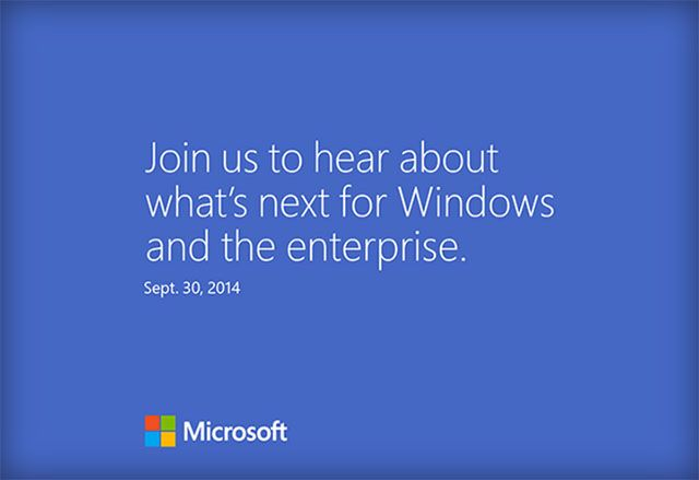 Microsoft подтвердила пресс-конференцию в конце сентября, ожидается анонс Windows 9