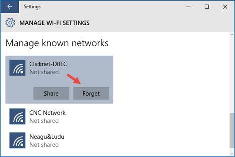 Как заставить Windows 10 забыть Wi-Fi сеть
