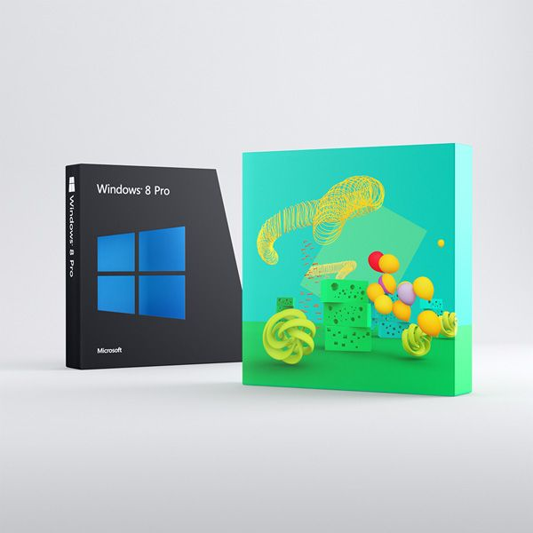 Ранний дизайн коробок с Windows 8