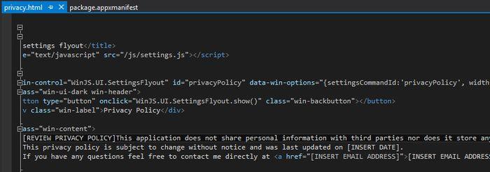 Как опубликовать в Windows Store приложение, созданное через Project Siena