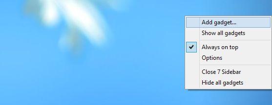Как вернуть гаджеты в Windows 8