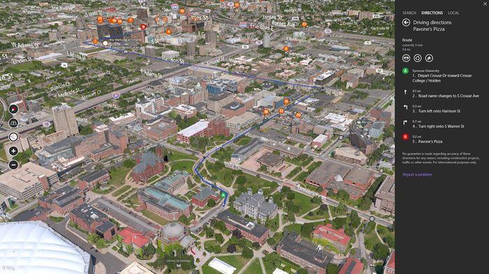 Приложение Bing Maps Preview для Windows 8.1 и RT 8.1