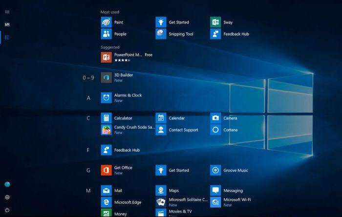 Microsoft работает над редизайном «Пуска» в Windows 10 (Обновлено)