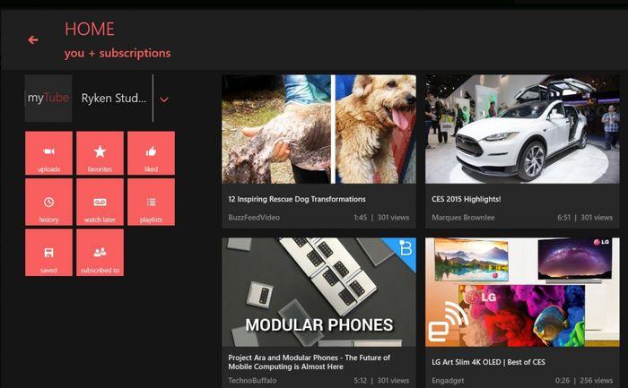 myTube! теперь и в версии для Windows 8.1