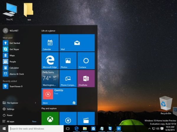 Windows 10 Build 10154