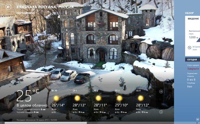 Приложение «Погода» в Windows 8 получило интерактивные карты и новый раздел