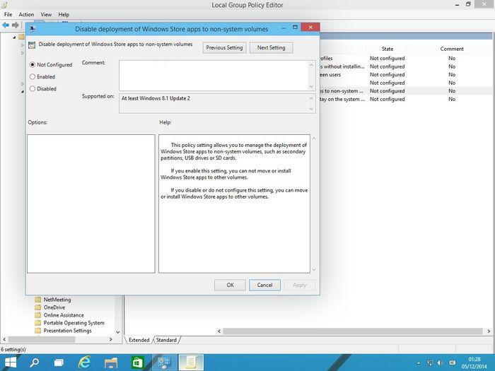 В Windows 10 добавлена возможность устанавливать приложения и игры Магазина Windows на microSD, USB-носители и несистемные разделы