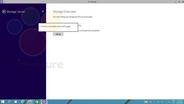 Скриншоты Storage Sense в Windows 9