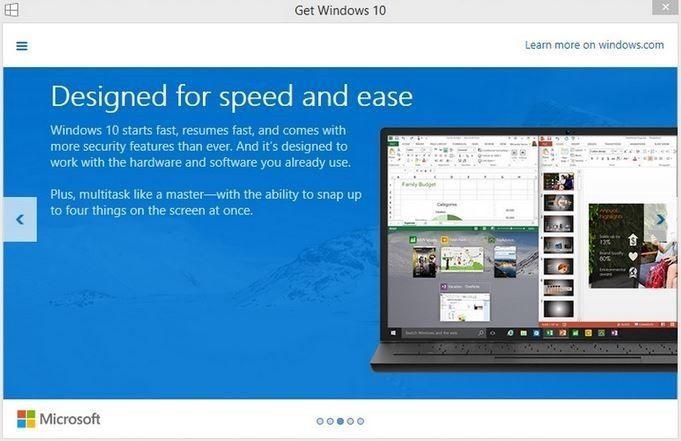 Microsoft предлагает пользователям Windows 7 и 8 / 8.1 зарезервировать бесплатное обновление до Windows 10 уже сейчас