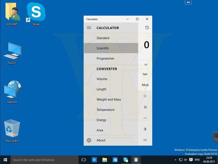 Скриншоты Windows 10 Build 10135