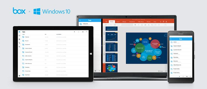 Box выпускает свое универсальное приложение для Windows 10