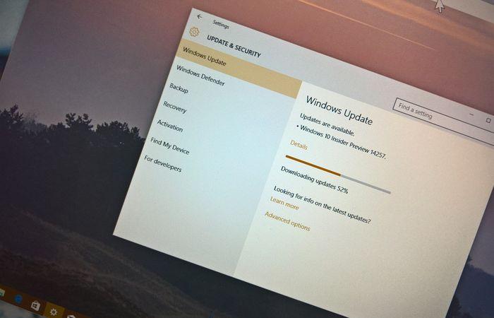 Выпущена сборка Windows 10 Redstone 14257